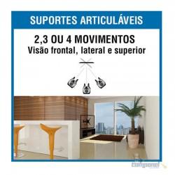 """Suporte ARTICULADO para TV LED, LCD, Plasma, 3D e Smart TV de 10"""" a 56"""" – Brasforma BRA3.0"""